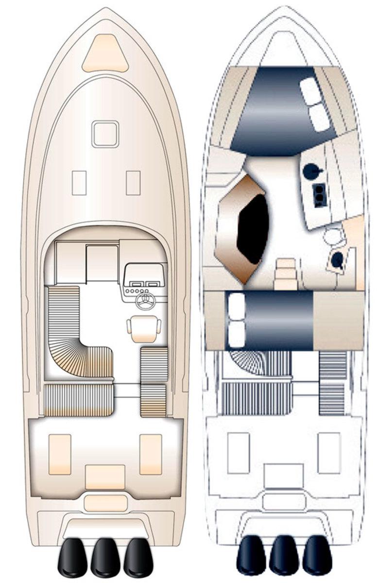 Jupiter 41 Sport Bridge deckplans