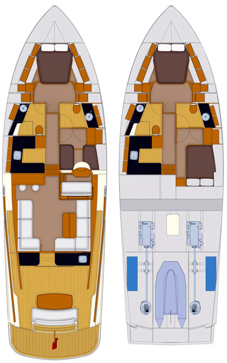 Palm Beach 52 deck plans