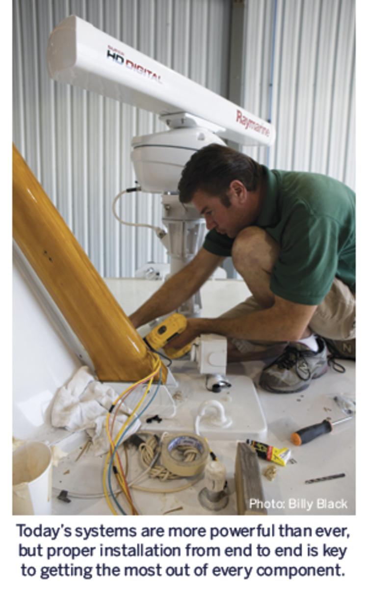 Marine electronics installation