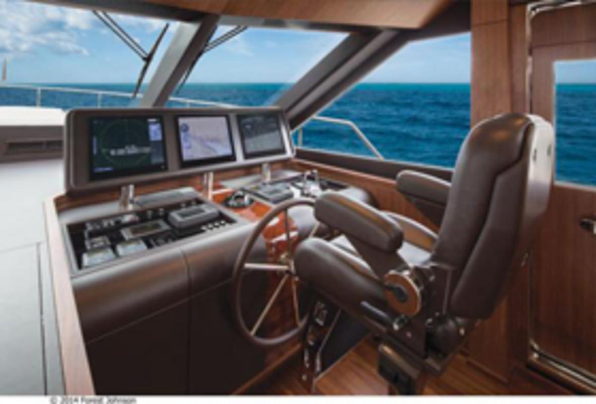Ocean Alexander 100 - helm