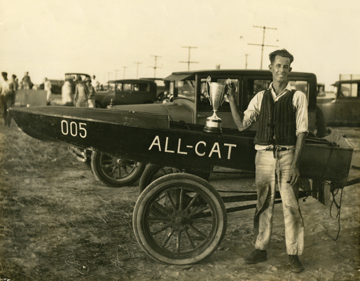 All-Cat was the first raceboat Forest E. Johnson  built