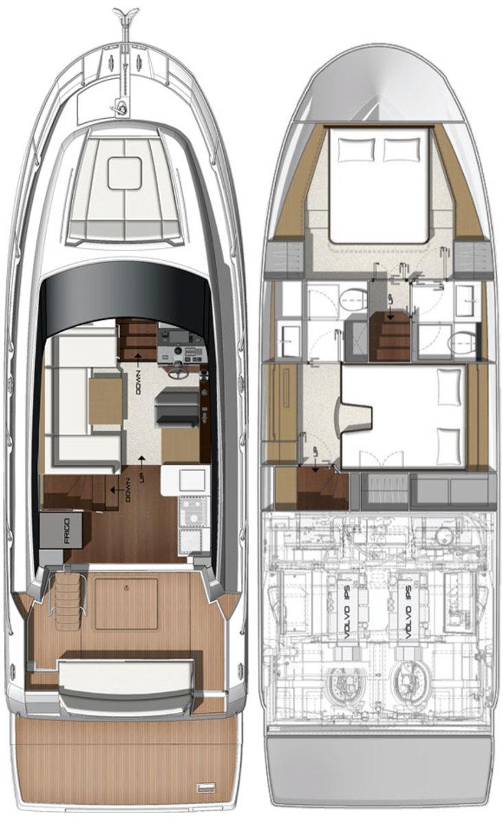 Prestige 420 deckplans