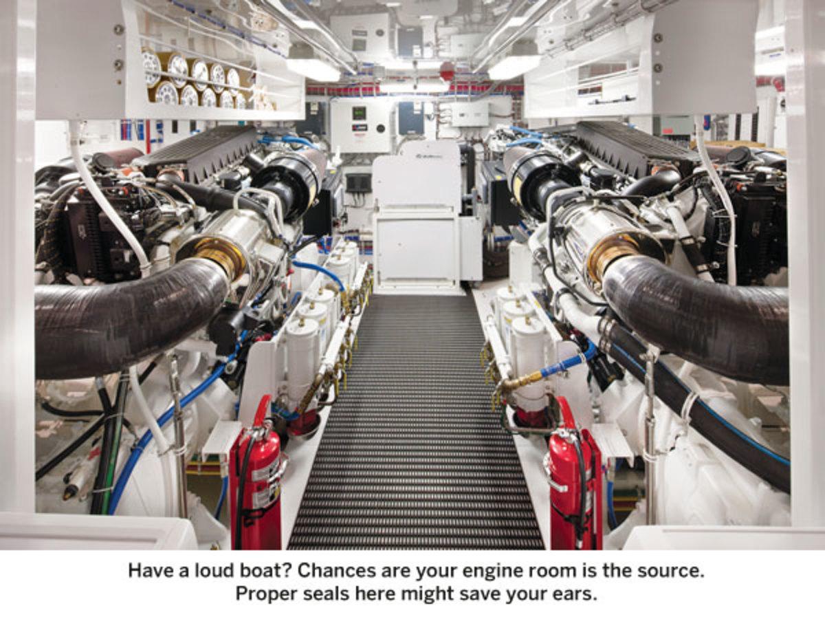 Hatteras 80 Motoryacht Engine Room