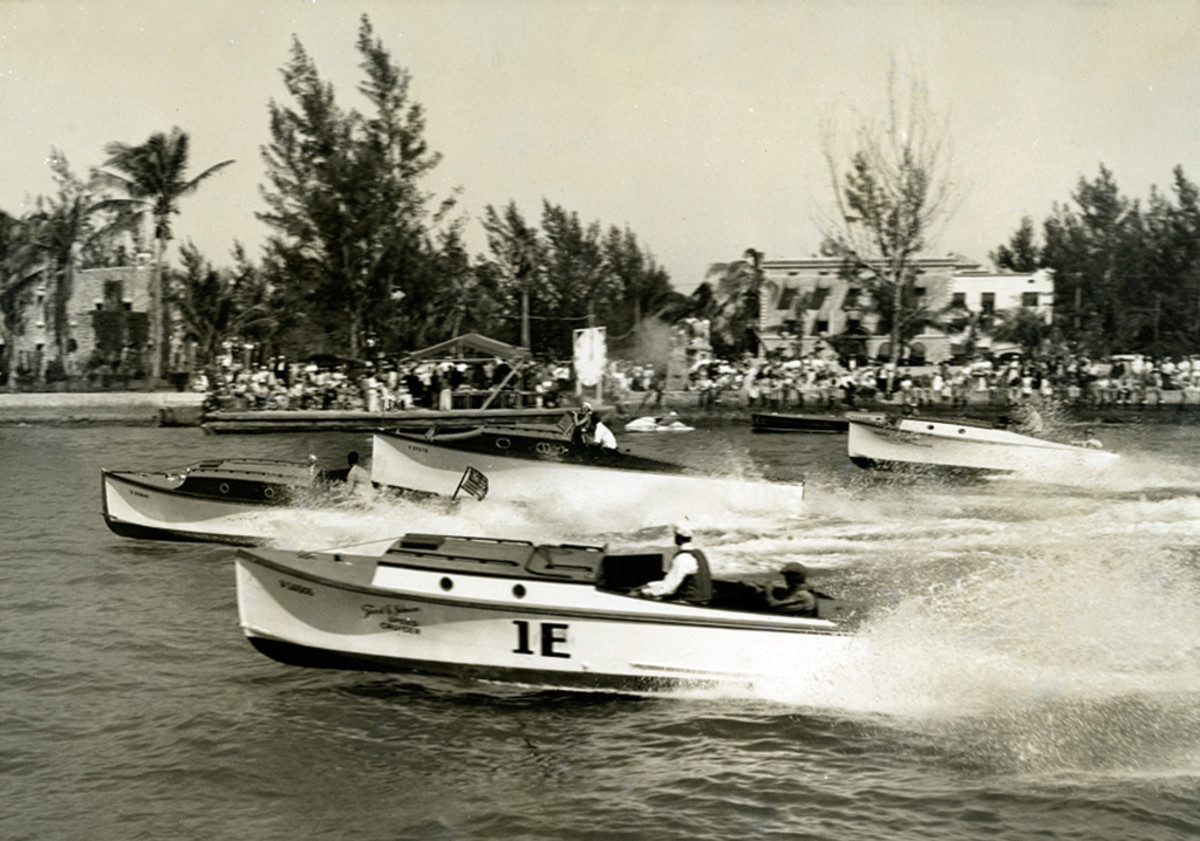 Forest E.'s earlier race boats