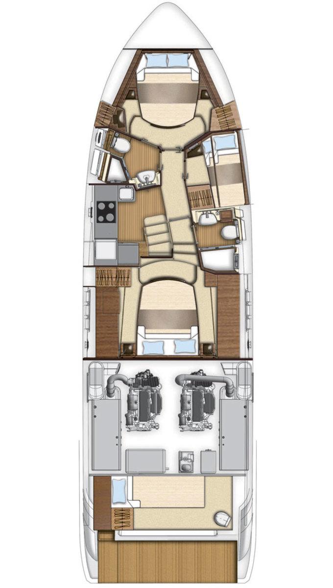 Azimut 50 lower deck plans