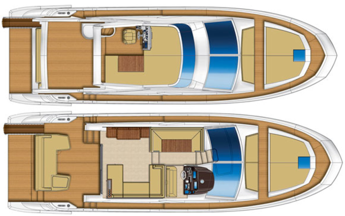 Azimut 50 deckplans