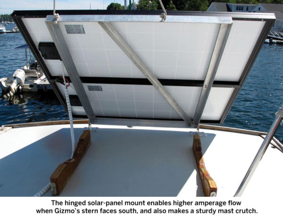 Solar panel on boat