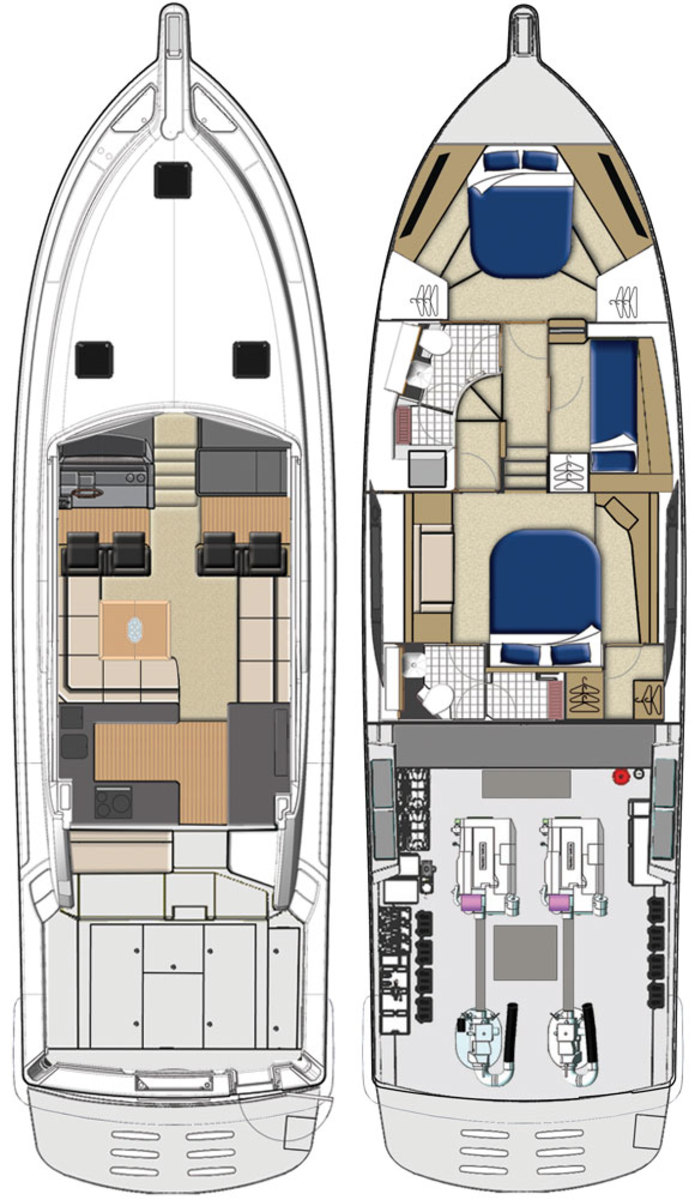 Riviera 565 SUV deckplans