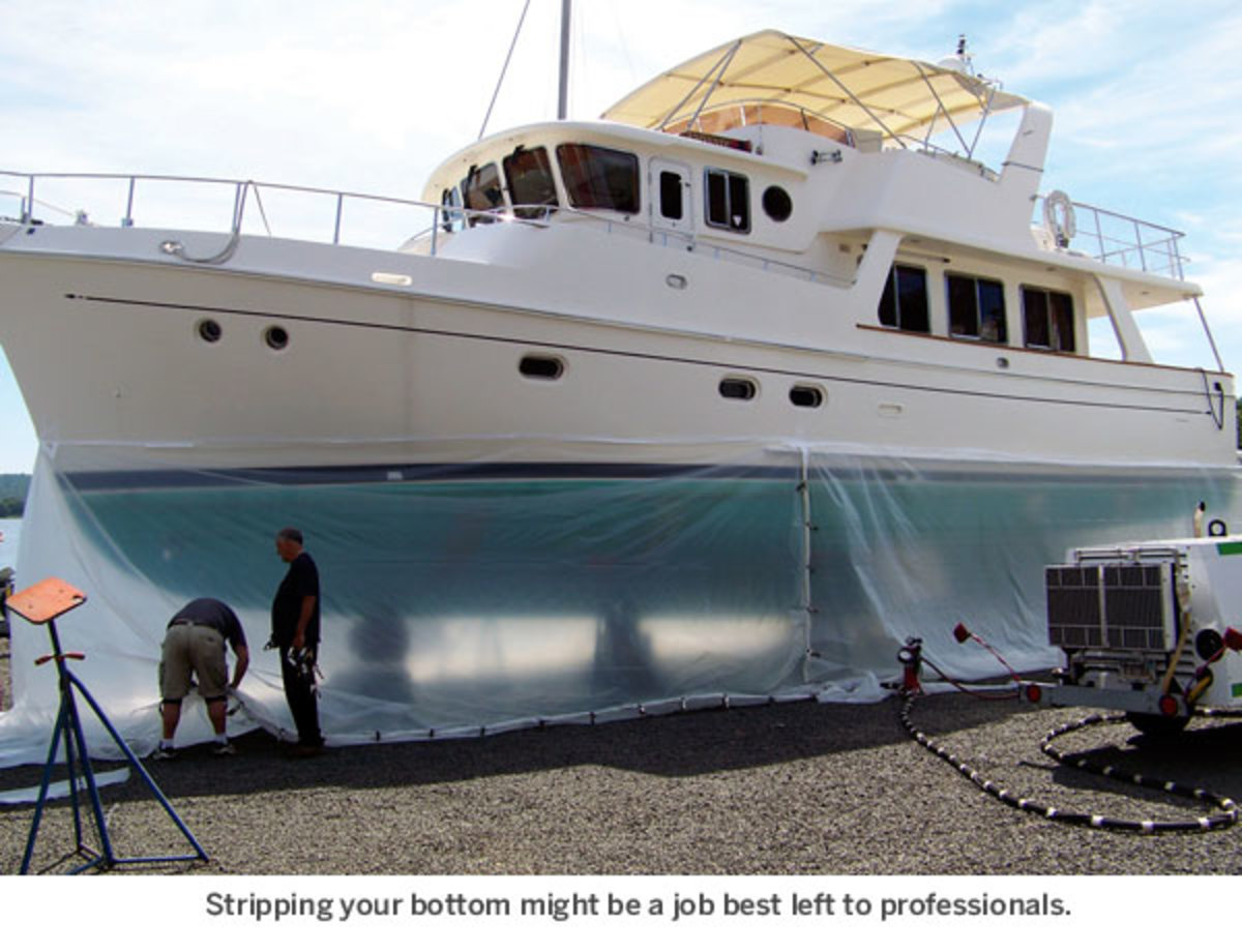 stripping a boat's bottom