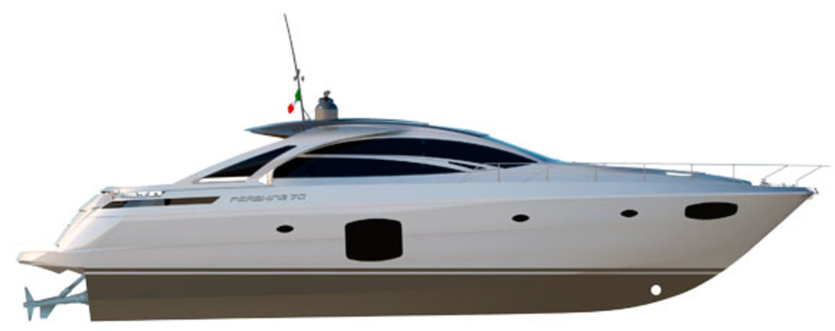 Pershing 70 profile rendering