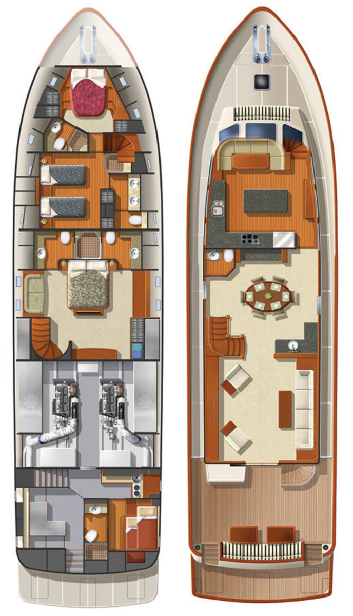 Offshore 87 Motor Yacht deckplans