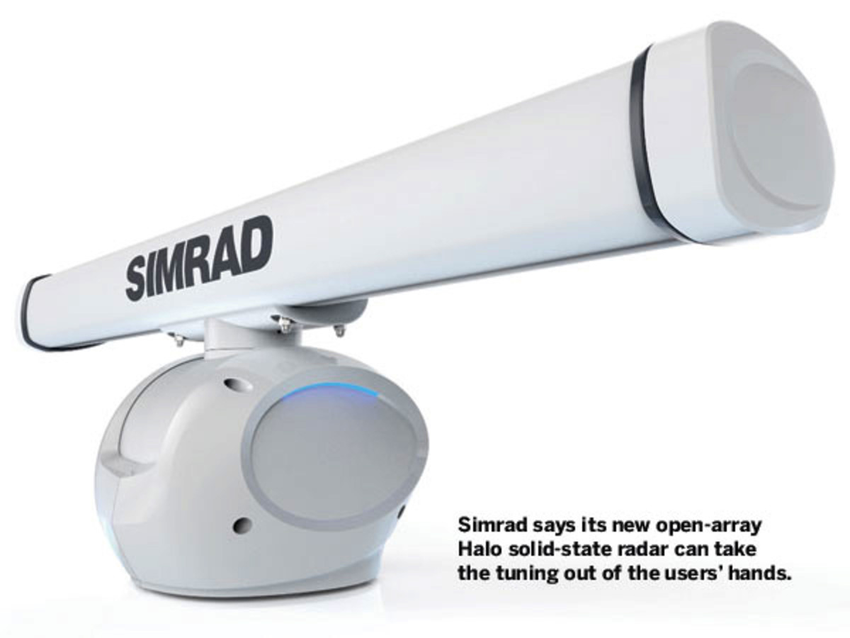 Simrad open-array Halo solid-state radar