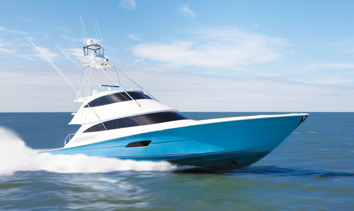 Viking's latest and largest launch to date, the behemoth 92 Convertible, is a favorite at shows.