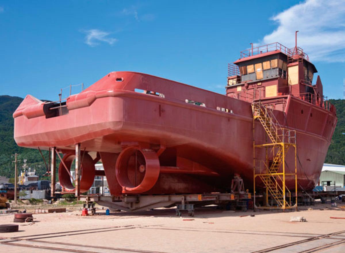 Cape Scott 81 under construction