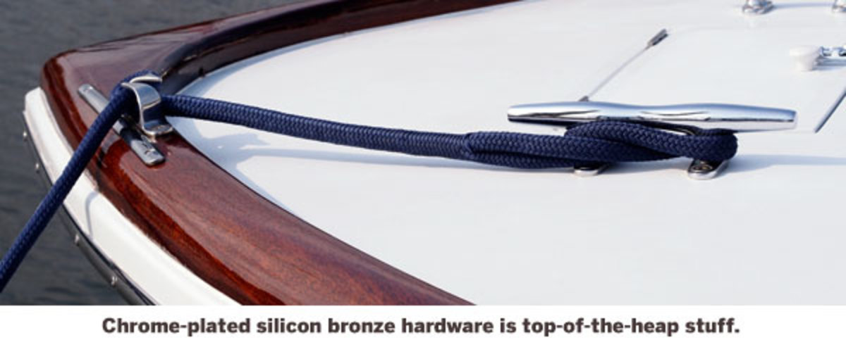 Chrome-plated silicon bronze hardware