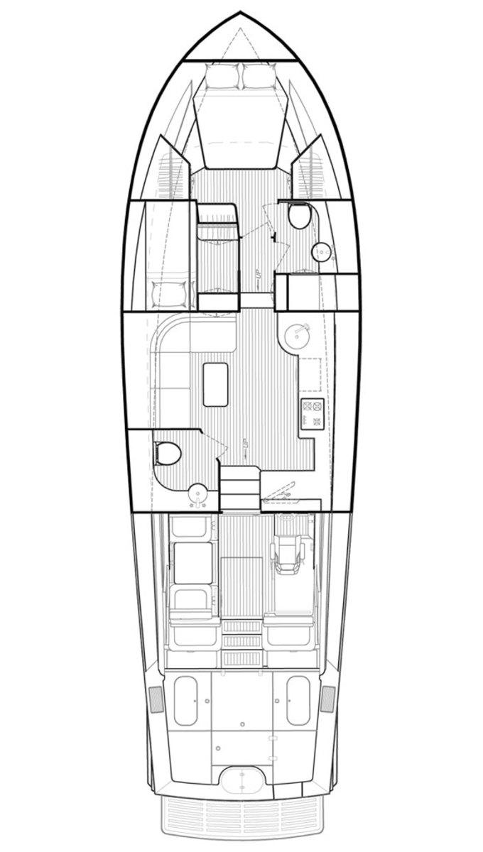 Huckins 45 Sportfisherman deckplans