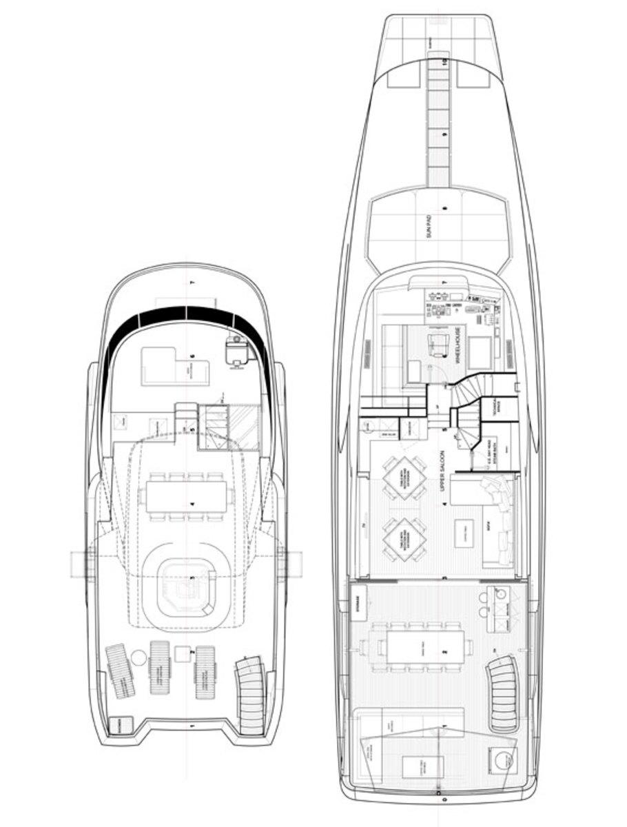 Benetti 108 Tradition Supreme deckplans - upper