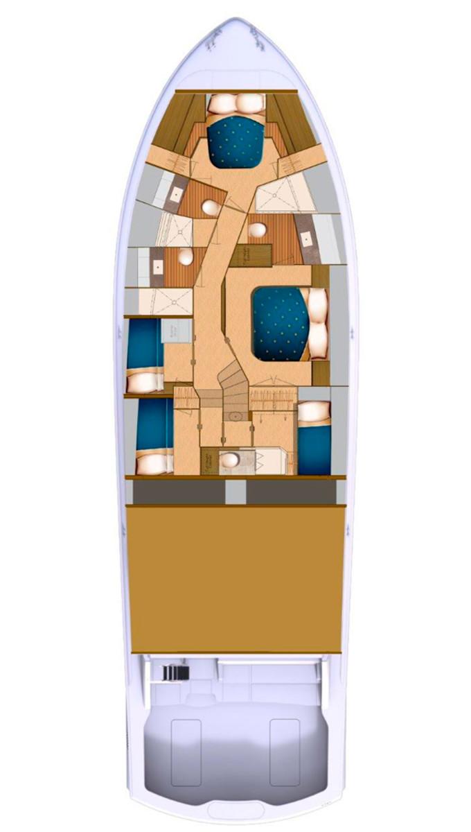 Hatteras GT70 deckplans