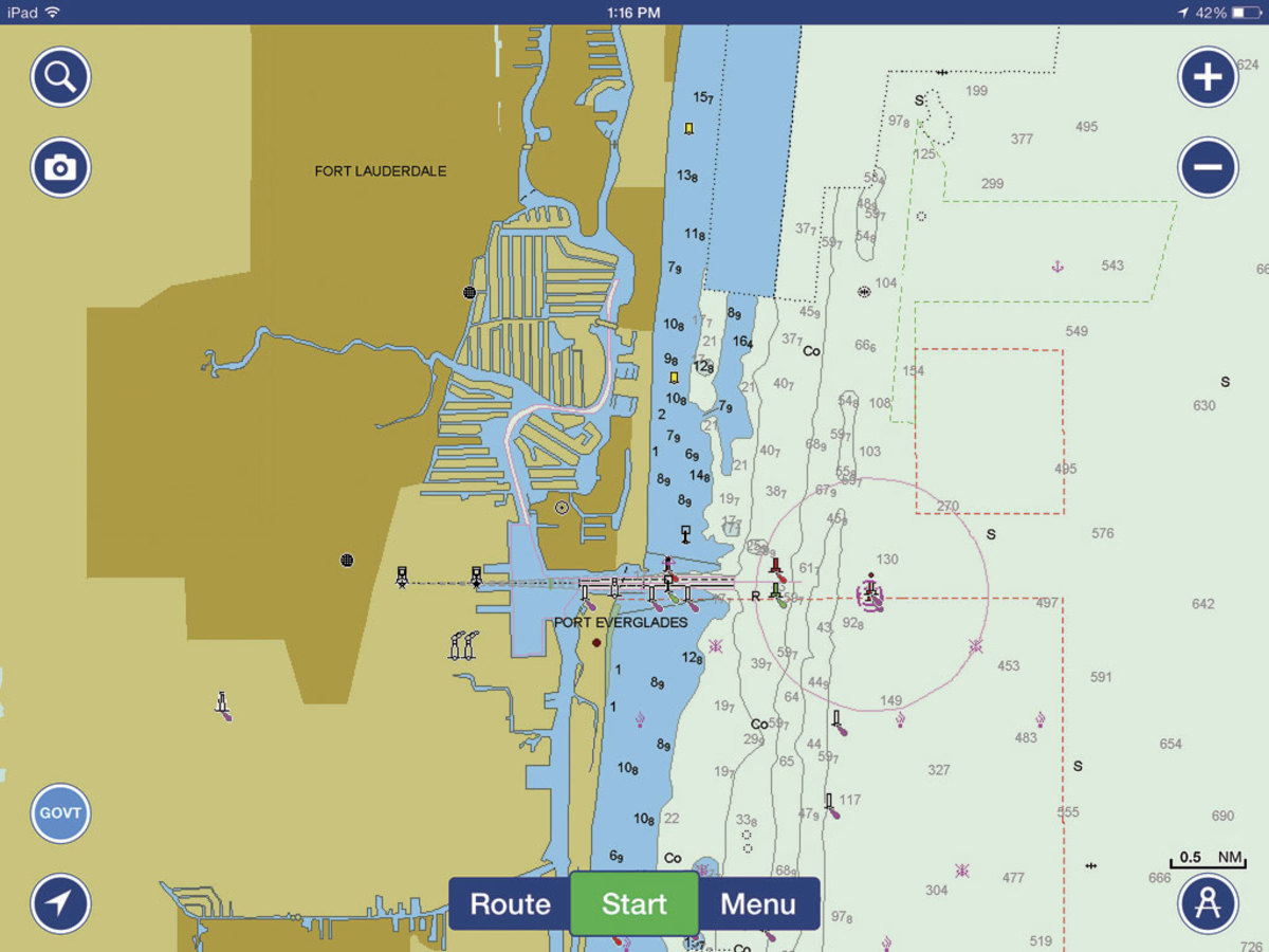 The Navionics Boating app