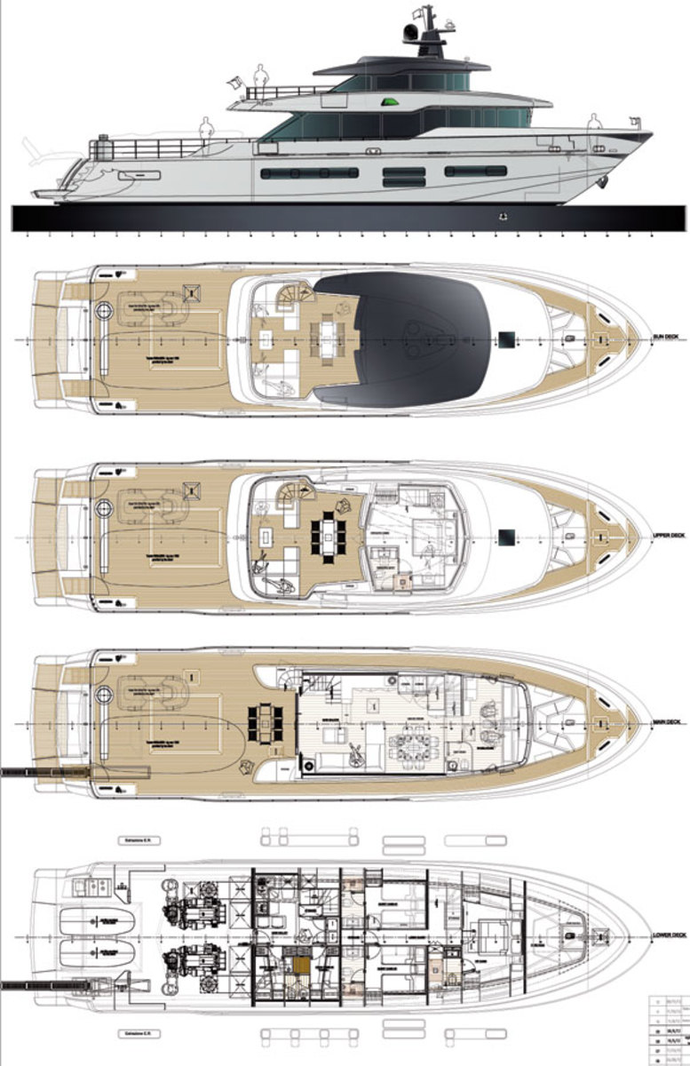 Oceanic 90 STS Expedition Yacht deck plans