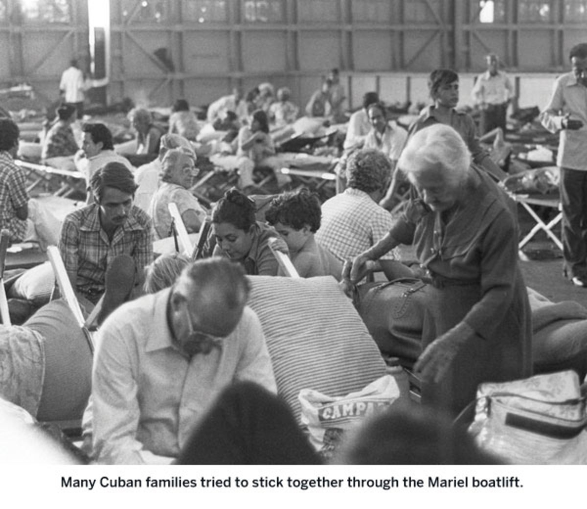 Many Cuban families tried to stick together through the Mariel boatlift.