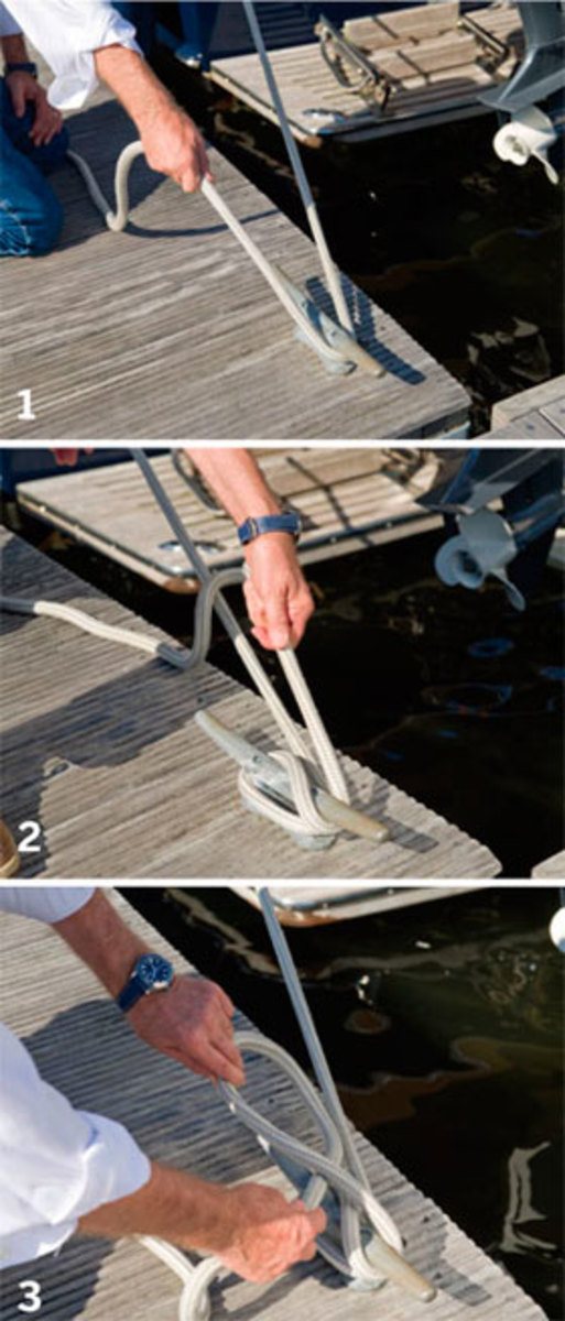 Cleating a lines - steps 1-3