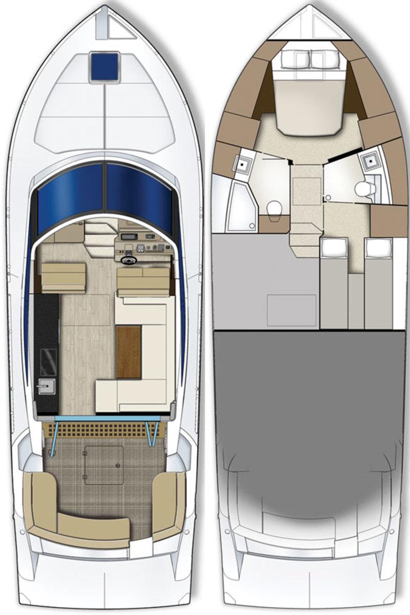 Carver C43 deckplans