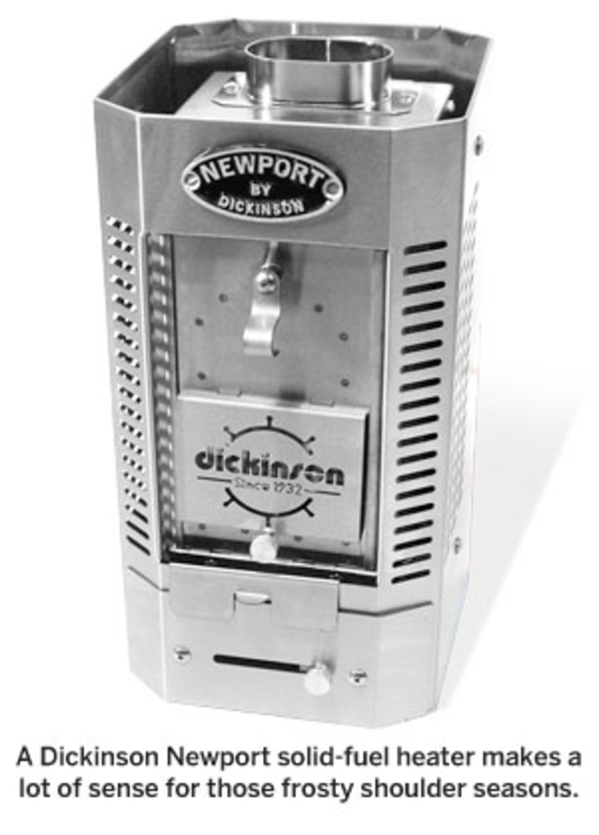 A Dickinson Newport solid-fuel heater