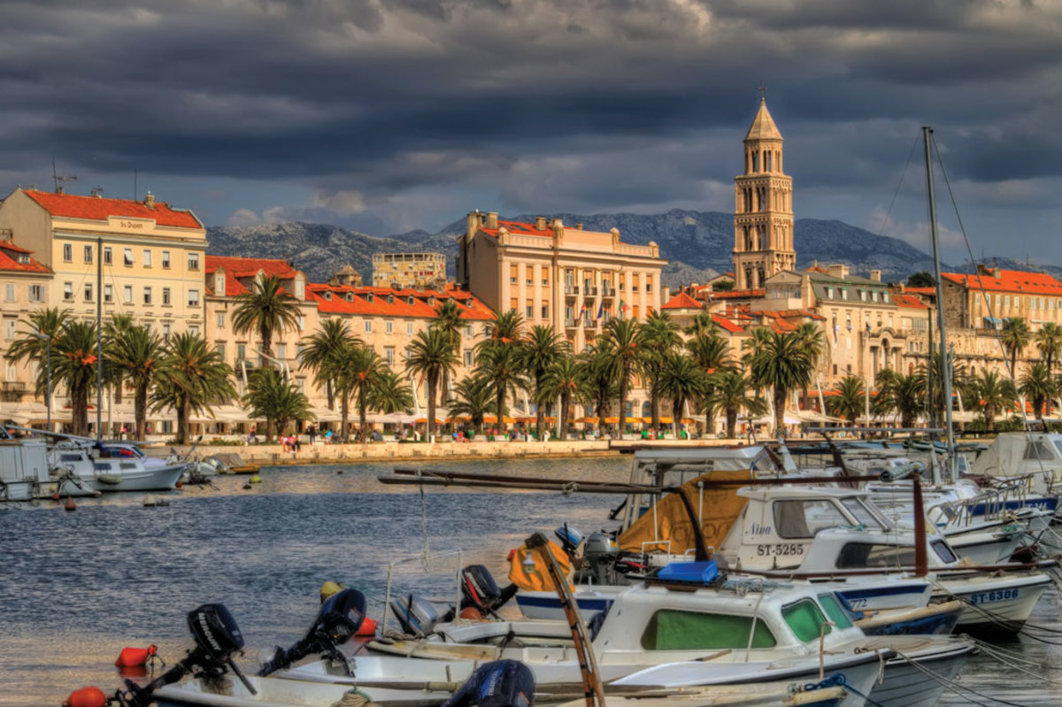The waterfront in Split