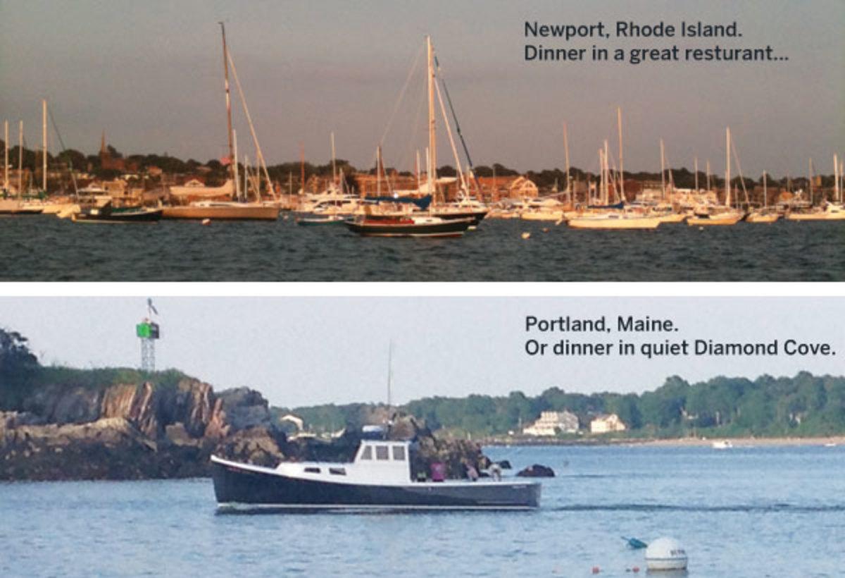 Newport RI and Portland ME