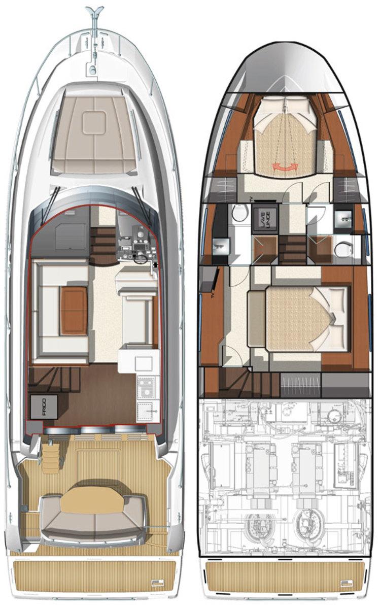 Prestige 450 Flybridge deckplans