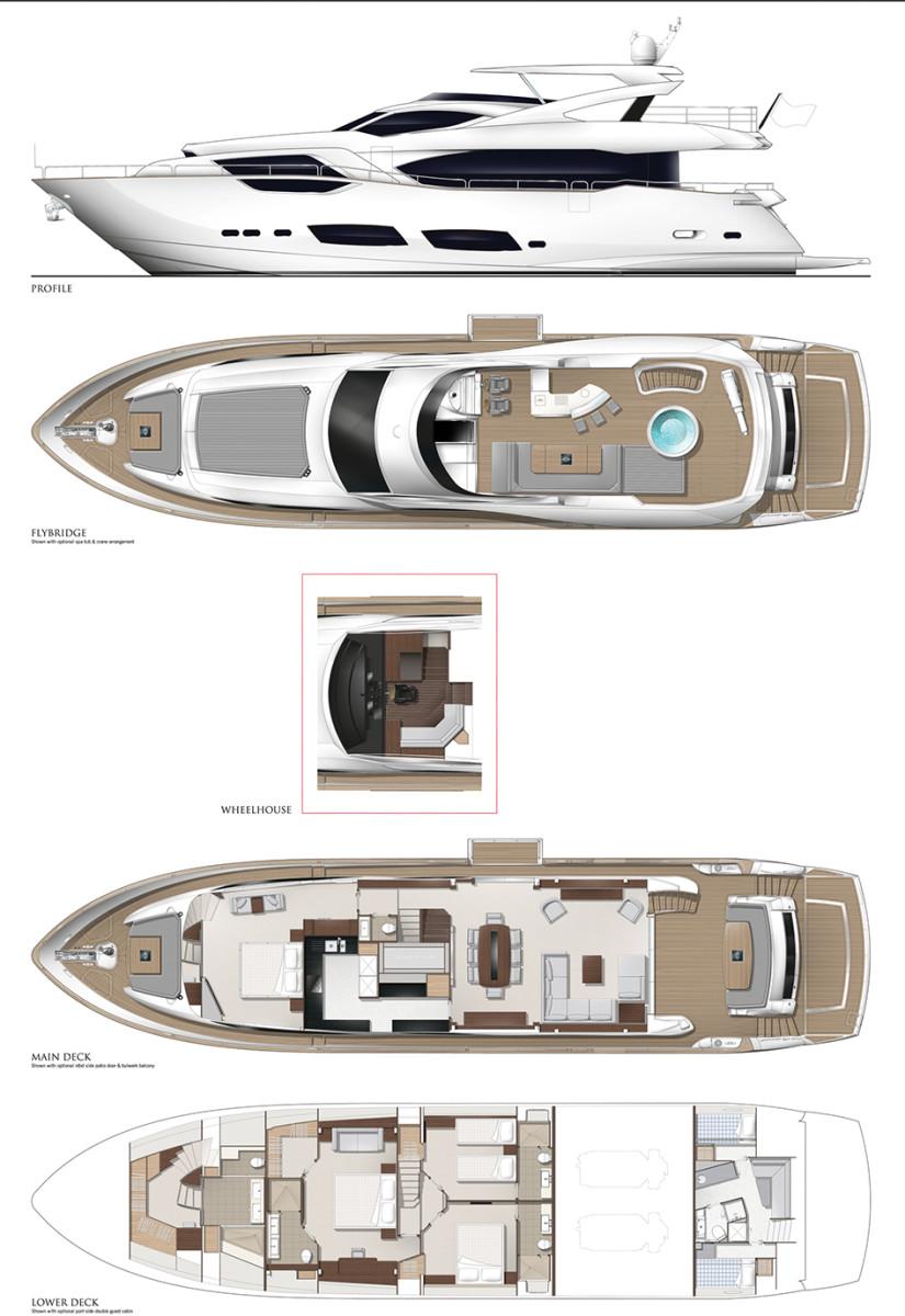 Sunseeker 95 yacht power motoryacht sunseeker 95 yacht layout diagram ccuart Gallery