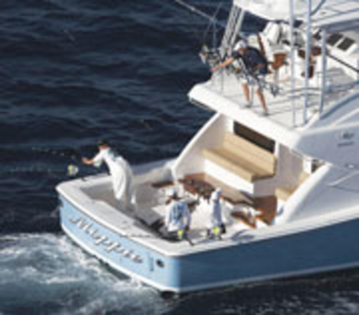 Fishing on the Bertram 64