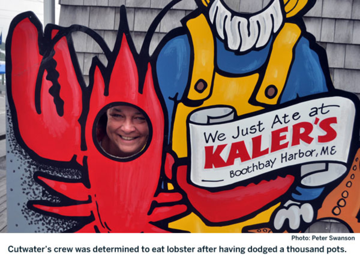 Cutwater's crew was determined to eat lobster after having dodged a thousand pots.
