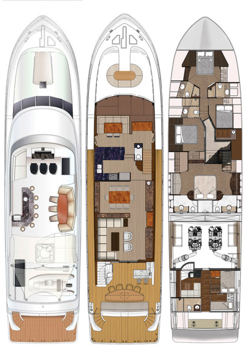 Ocean Alexander 90 deckplans