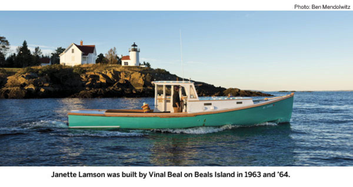 Janette Lamson was built by Vinal Beal on Beals Island in 1963 and 1964.