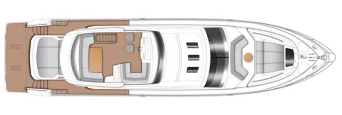 Princess S72 Flybridge deckplans