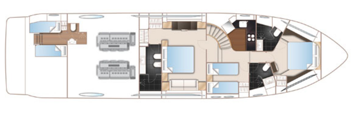 Princess S72 Lower deck deckplans