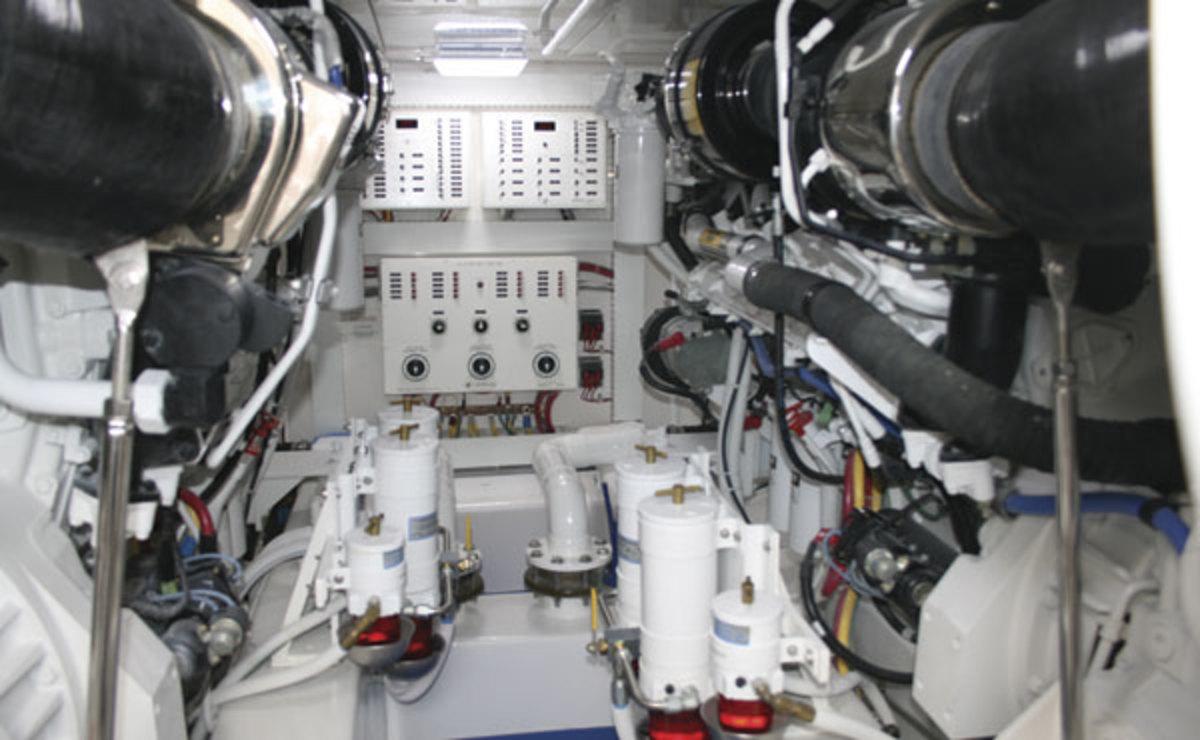 Bertram 64 Engine Room