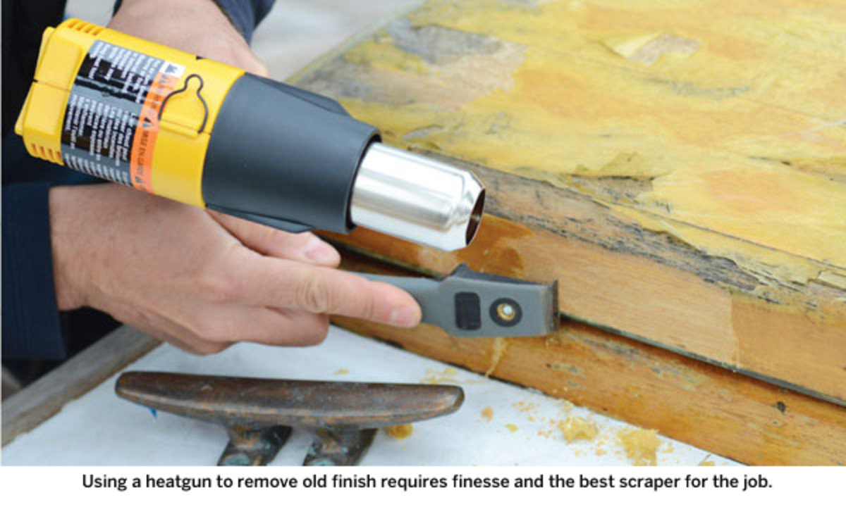 Using a heatgun to remove old finish