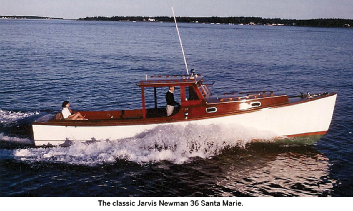 The classic Jarvis Newman 36 Santa Marie.