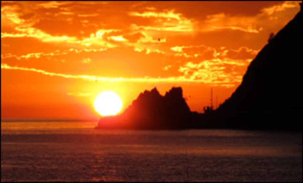 Channel Island sunset