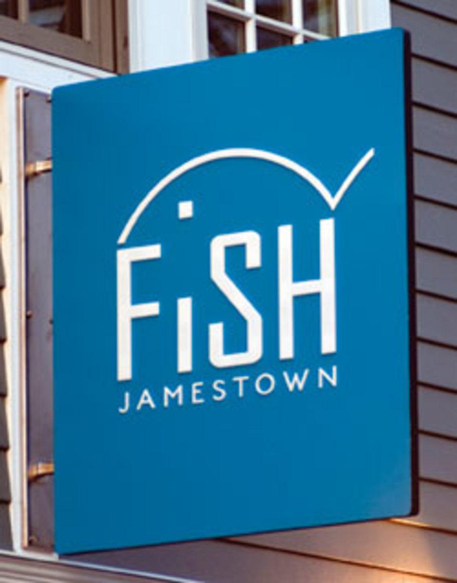 Jamestown fish sign