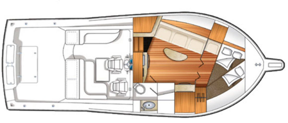 Albemarle 360 EXF deck plans