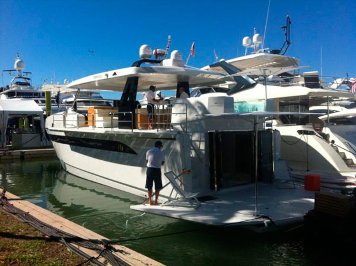 Astondoa Top Deck 63 at the Yacht & Brokerage show in Miami 2014