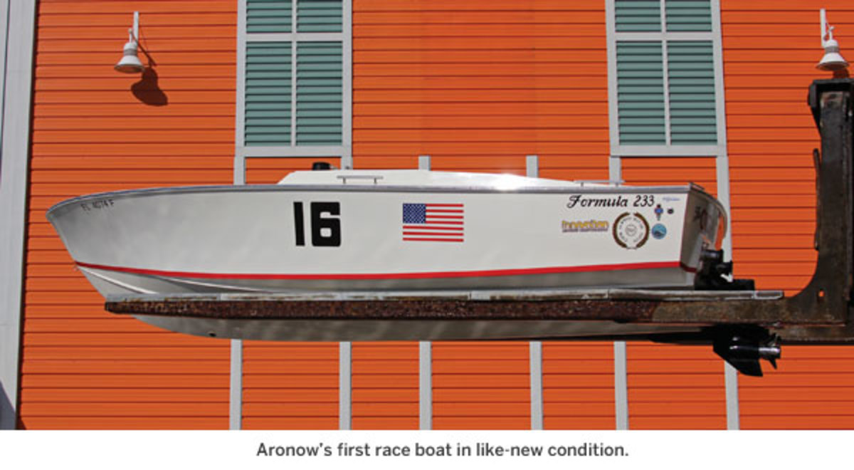 Aronow's first race boat in like-new condition.