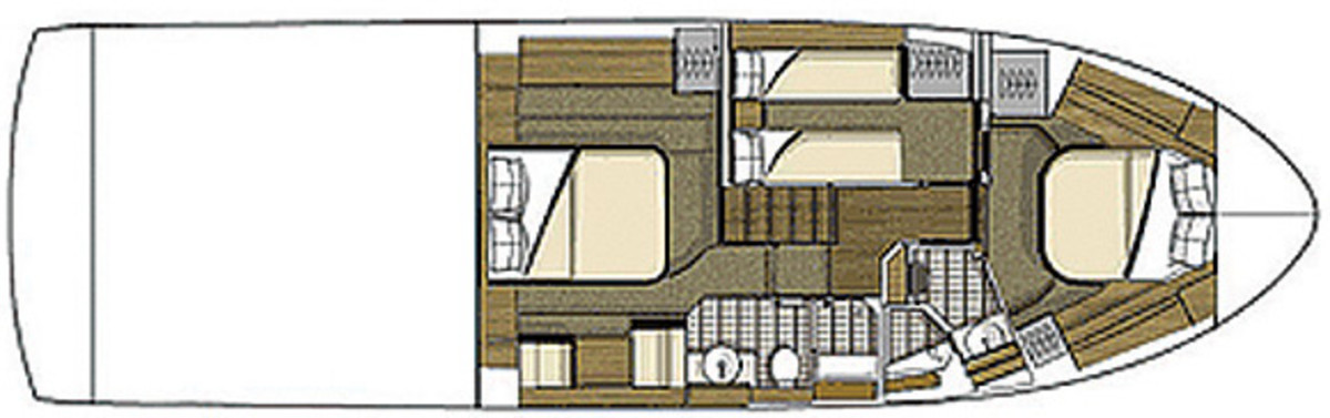 Sea Ray 510 Fly - deckplans, lowerdeck