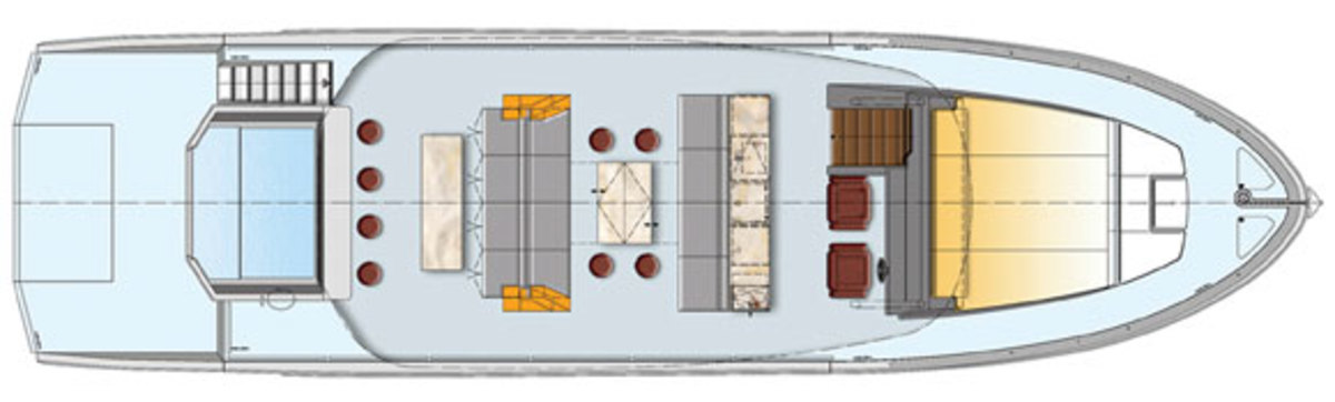 Astondoa Top Deck 63 - main deck layout (closed)