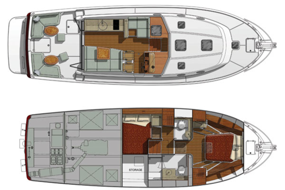 Back Cove 41 deck plans