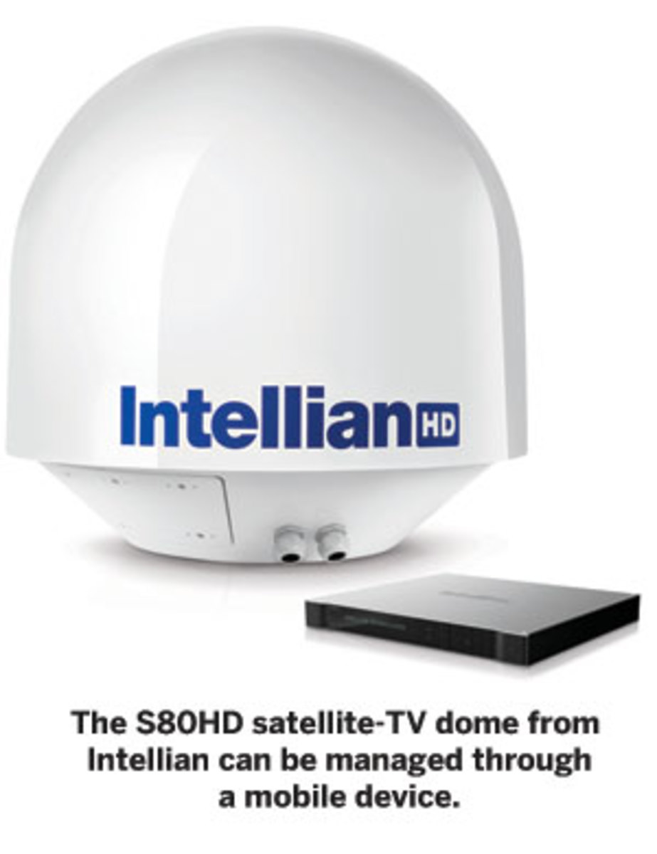 S80HD satellite-TV dome from Intellian